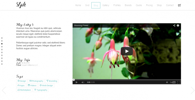 Slyde Website Template Blog 6