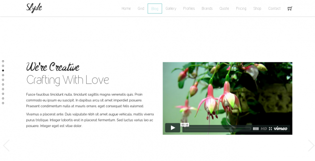 Slyde Website Template Blog