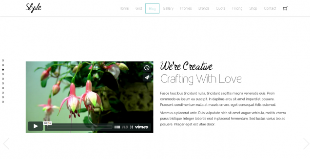 Slyde Website Template Blog 2