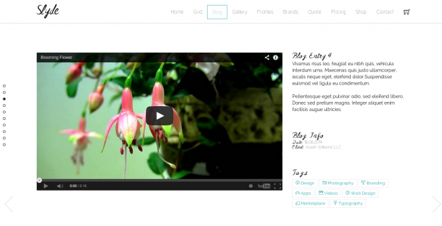 Slyde Website Template Blog 5